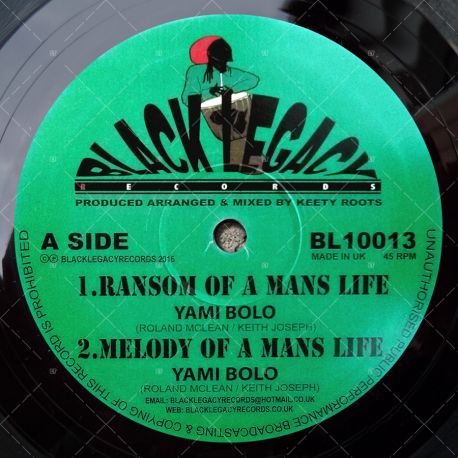Yami Bolo - Ransum Of A Mans Life